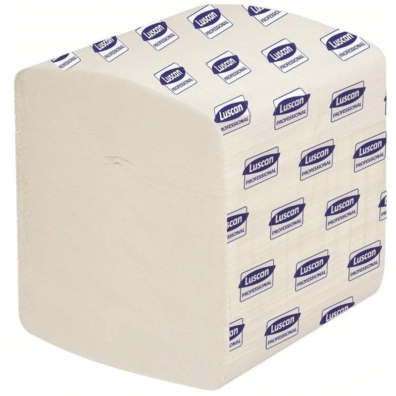 Туалетная бумага, LUSCAN, 2 слойная, для диспенсера, 250 л., белый