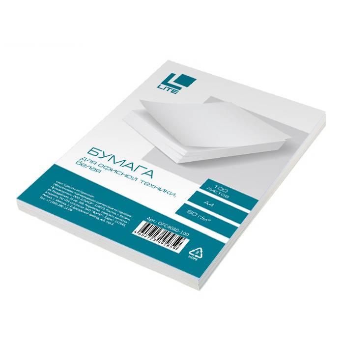 Бумага LITE CLASSIC А4, 80 г/м2, 100 листов, 146 % (CIE)
