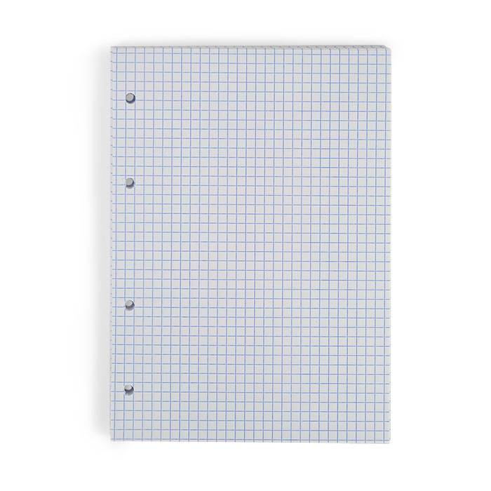 Сменный блок, А5, 50 л., клетка, БЕЛЫЙ, 60 гр/м2, линовка синий