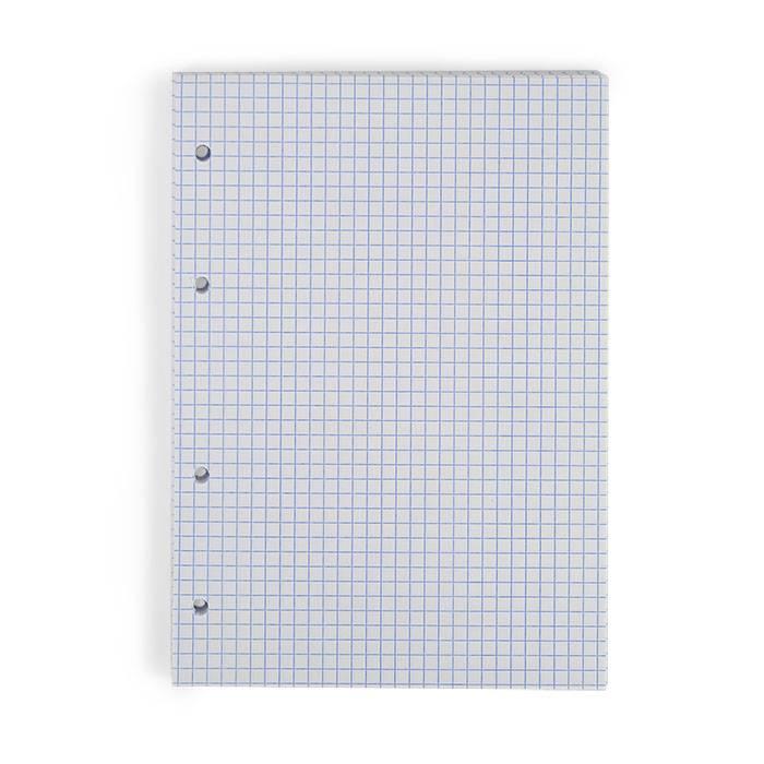 Сменный блок, А5, 80 л., клетка, БЕЛЫЙ, 60 гр/м2, линовка синий