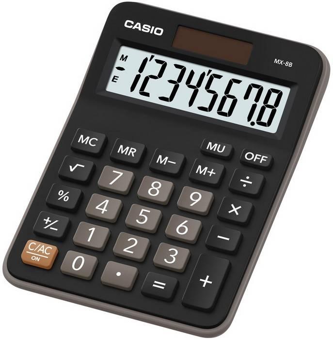 Калькулятор CASIO MX-8B 8 разр. черный бухгалтерский