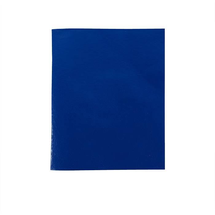 Тетрадь 96 листов LITE А5 в клетку, обложка из бумвинила, на скрепке, синяя