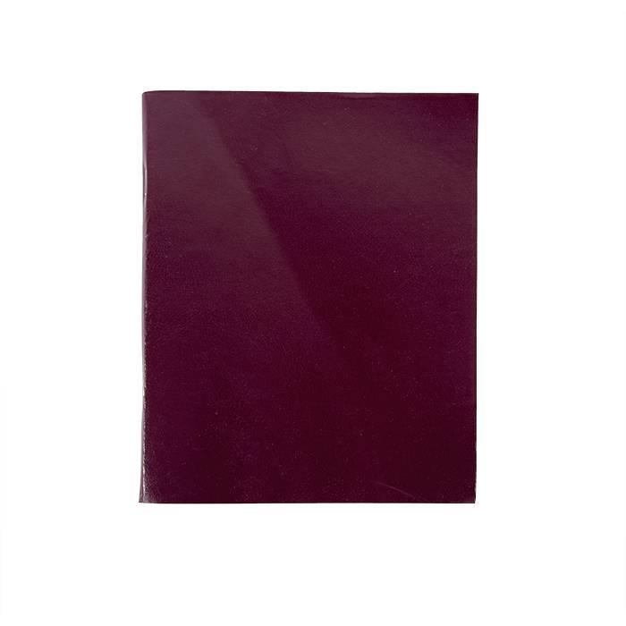 Тетрадь 96 листов LITE А5 в клетку, обложка из бумвинила, бордо, на скрепке