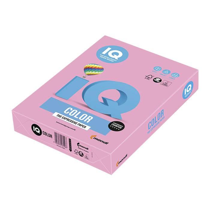 Бумага цветная IQ COLOR розовая (80 г/м2, А4, 500 листов)
