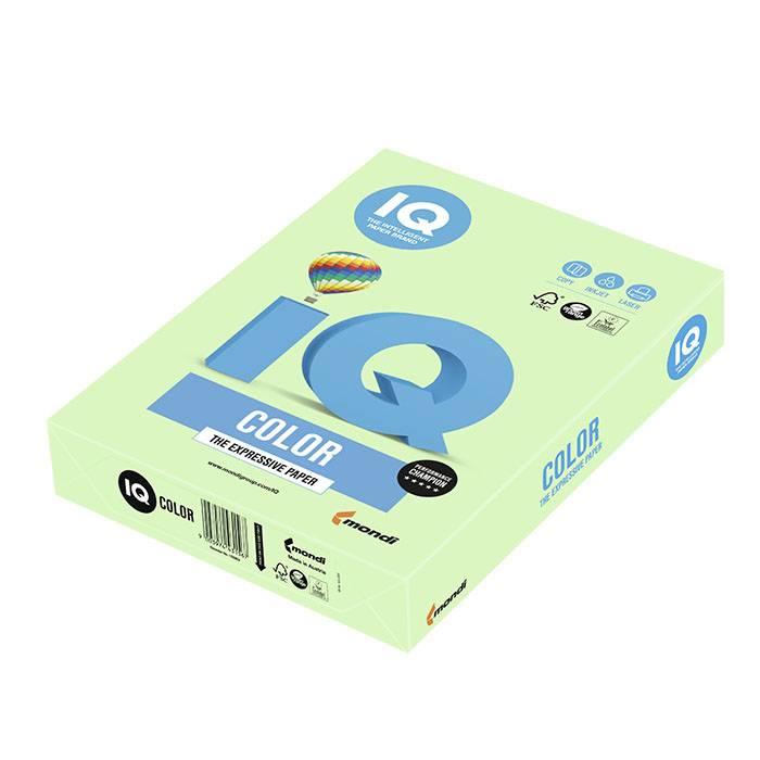 Бумага цветная IQ COLOR зеленая (80 г/м2, А4, 500 л.)