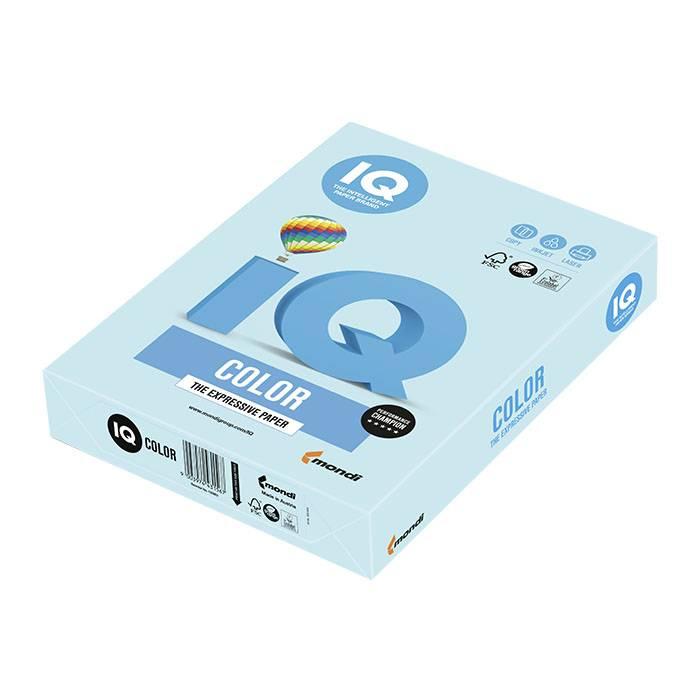 Бумага цветная IQ COLOR пастель голубая (80 г/м2, А4, 500 л.)