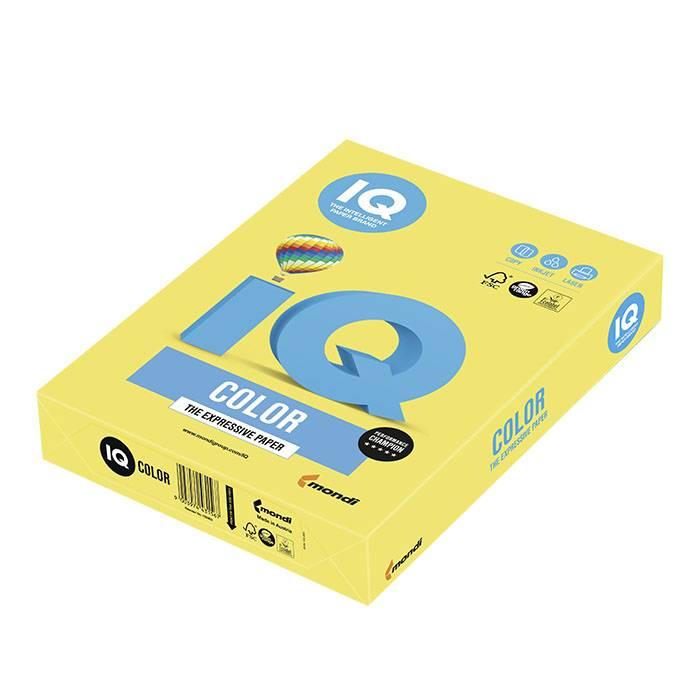 Бумага цветная IQ COLOR канареечно-желтая (80 г/м2, А4, 500 л.)