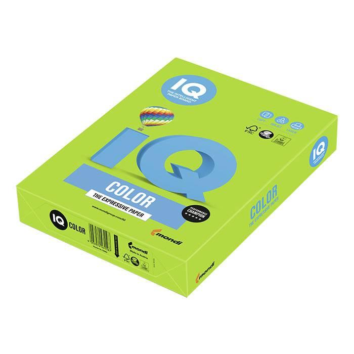 Бумага IQ COLOR 500 л. 80 г/м2 А4 интенсив ярко-зеленый