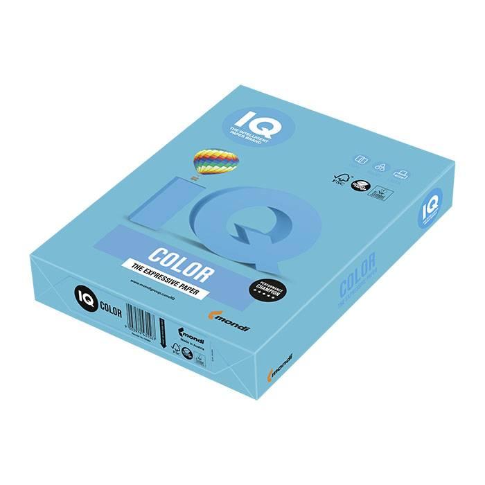 Бумага цветная IQ COLOR интенсив светло-синяя (80 г/м2, А4, 500 л.)