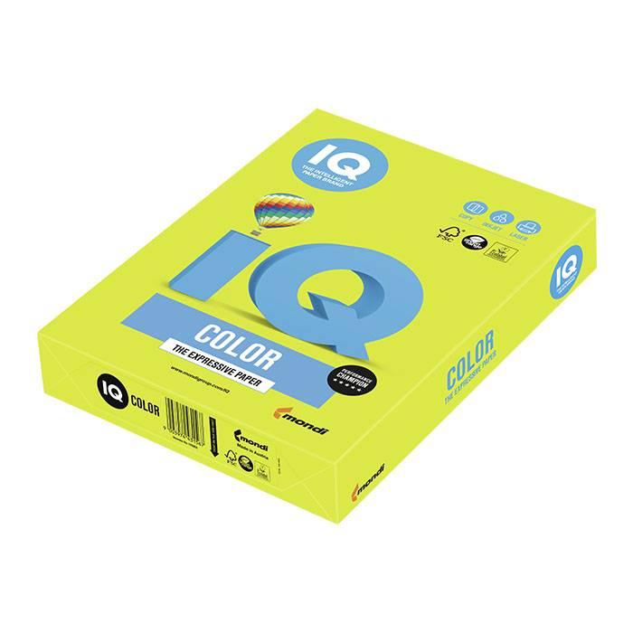 Бумага IQ COLOR 500 л. 80 г/м2 А4 неон зеленый