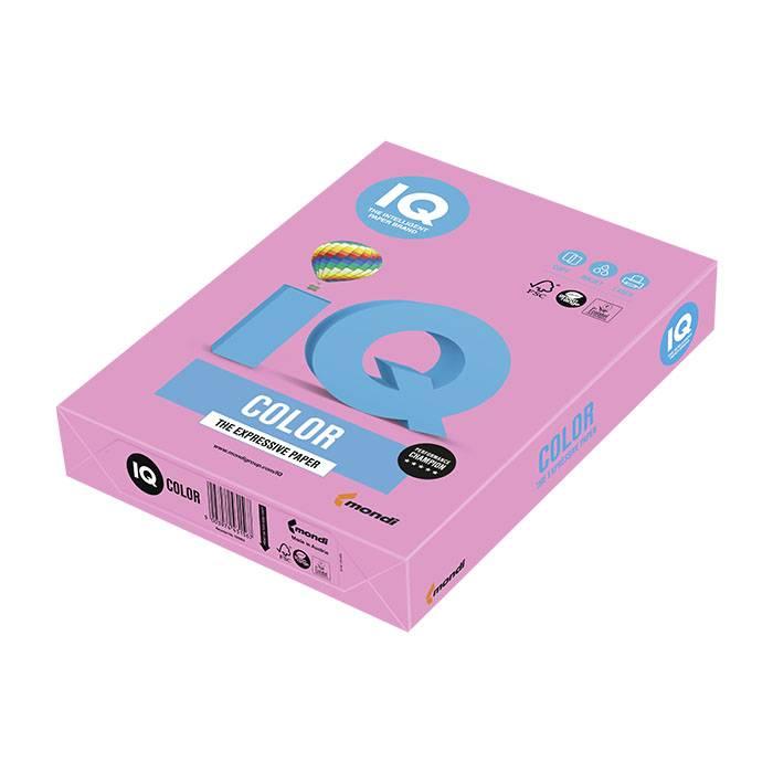 Бумага цветная IQ COLOR неон розовая (80 г/м2, А4, 500 л.)