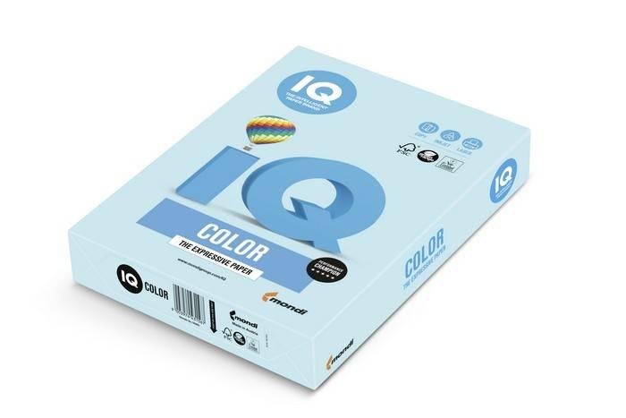 Бумага IQ COLOR 250 л. 160 г/м2 А4 пастель голубой