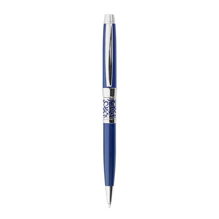Ручка шариковая VENEZIA, синий, матовая, картонный футляр