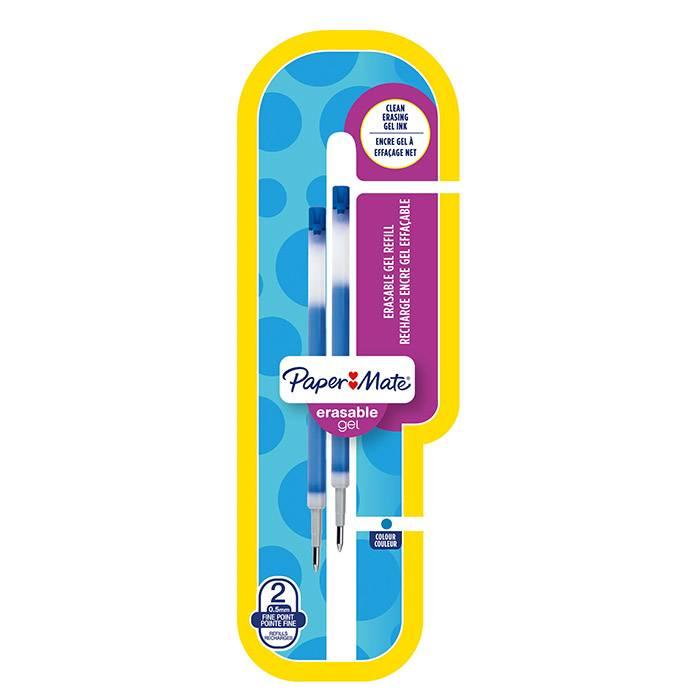 Стержень гел. PAPER MATE ERASABLE GEL REFILL 119 мм 0,5 мм синий «пиши-стирай» 2 шт.