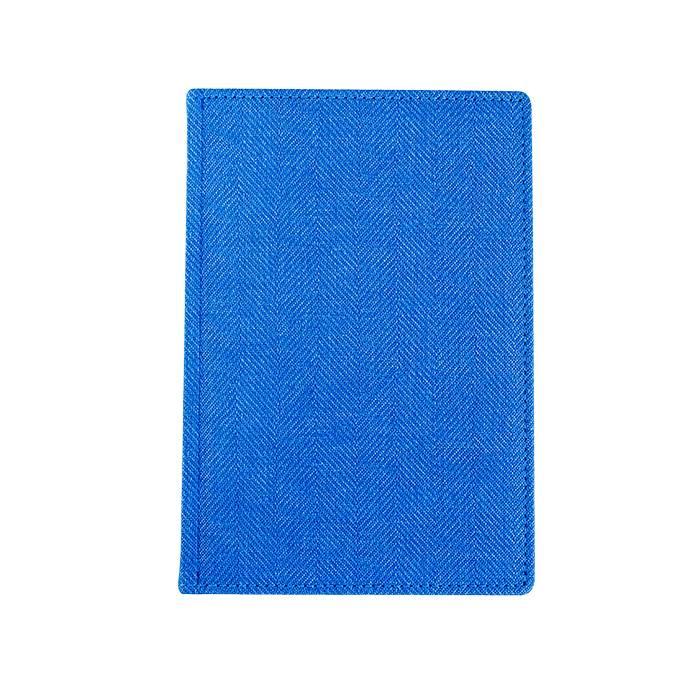 Ежедневник недатированный, А5, 176 л., ТВИД, синий, ляссе