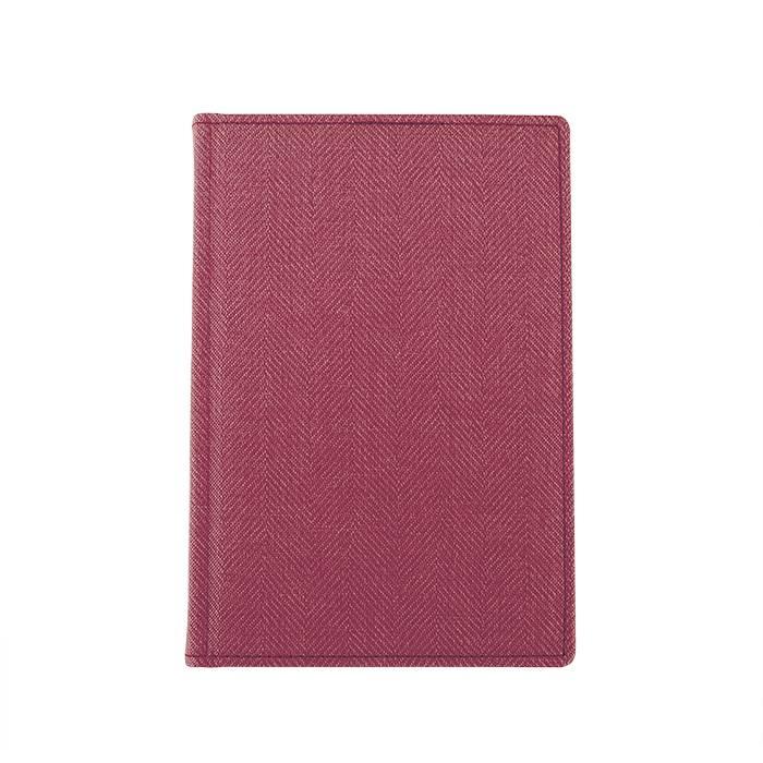 Ежедневник недатированный, А5, 176 л., ТВИД, розовый, ляссе