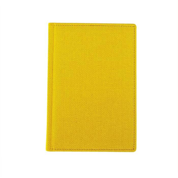 Ежедневник недатированный, А5, 176 л., ТВИД, желтый, ляссе