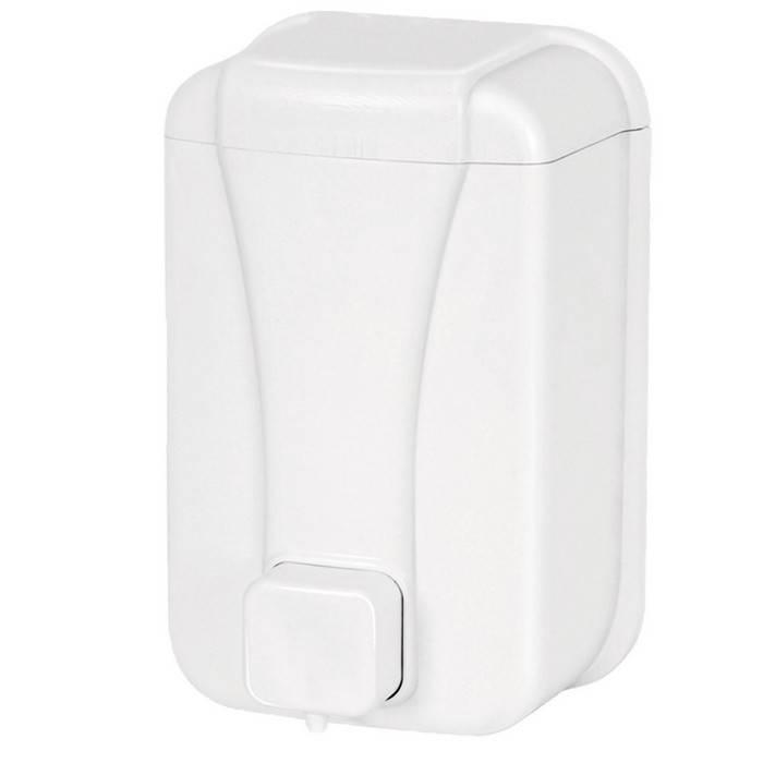 Диспенсер для жидкого мыла PALEX, пластик, 500 мл, 10х9х17 см, белый