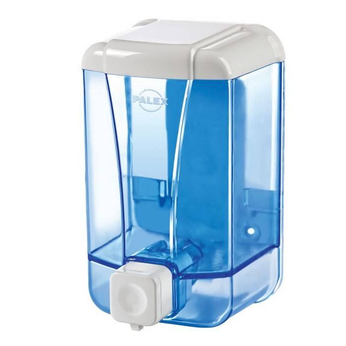 Диспенсер для жидкого мыла PALEX, пластик, 500 мл, 10х9х17 см, прозрачный