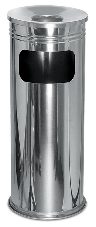 Урна-пепельница, нержавеющая сталь, для мусора, 20х60 см.