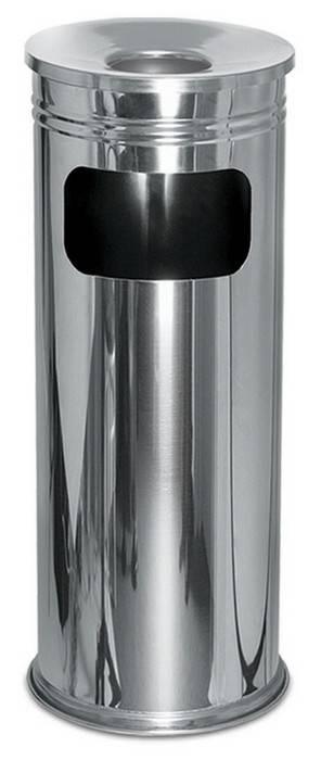 Урна-пепельница, нержавеющая сталь, для мусора, 30х60 см.