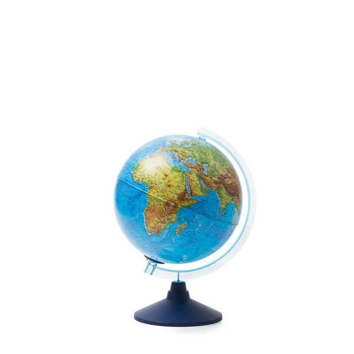 Глобус, ГЛОБЕН Евро, физический, 25 см, голубой, подсветка