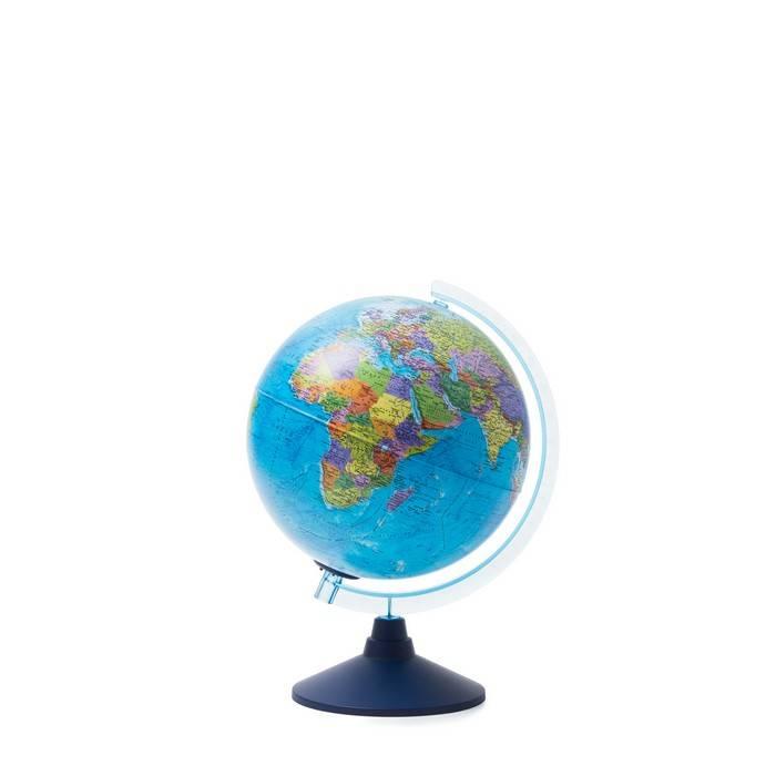 Глобус, ГЛОБЕН Евро, политический, 25 см, голубой, подсветка