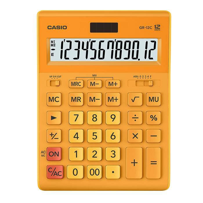 Калькулятор CASIO GR-12 12 разрядный оранжевый бухгалтерский