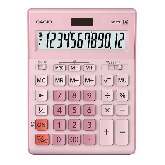 Калькулятор CASIO GR-12 12 разрядный розовый бухгалтерский
