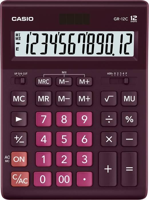 Калькулятор CASIO GR-12 12 разрядный бордо бухгалтерский