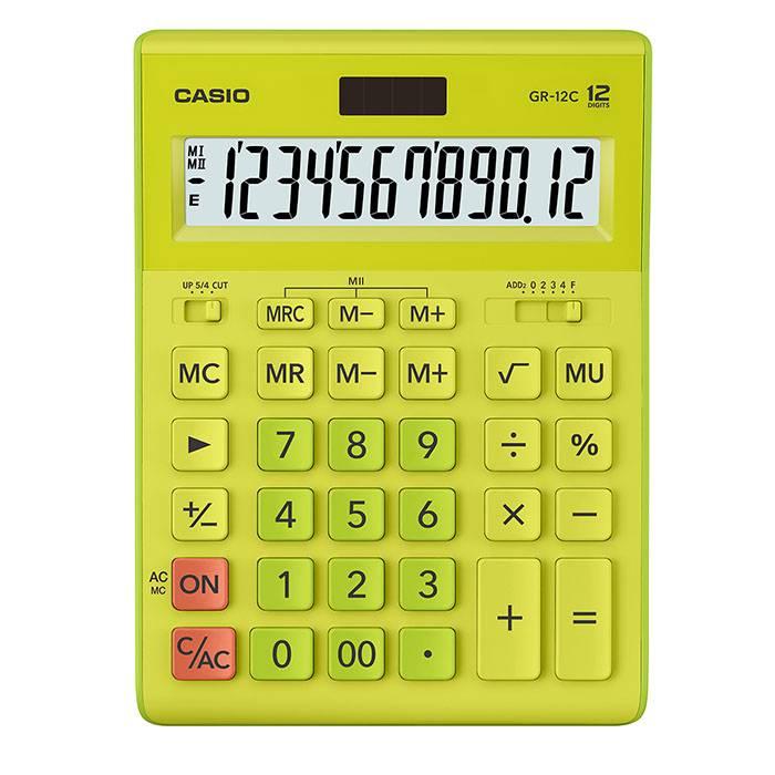 Калькулятор CASIO GR-12 12 разрядный салатовый бухгалтерский