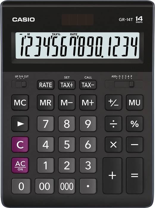 Калькулятор CASIO GR-14T-W-EP 14 разр. расчет налогов бухгалтерский