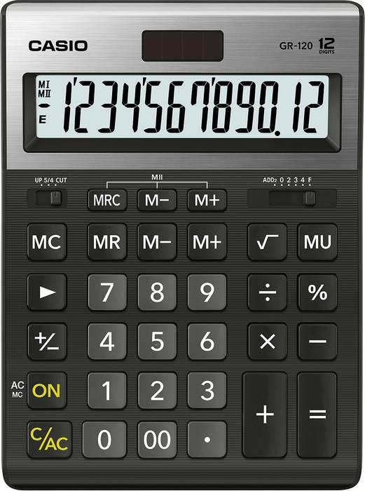 Калькулятор CASIO GR-120 12 разр. бухгалтерский