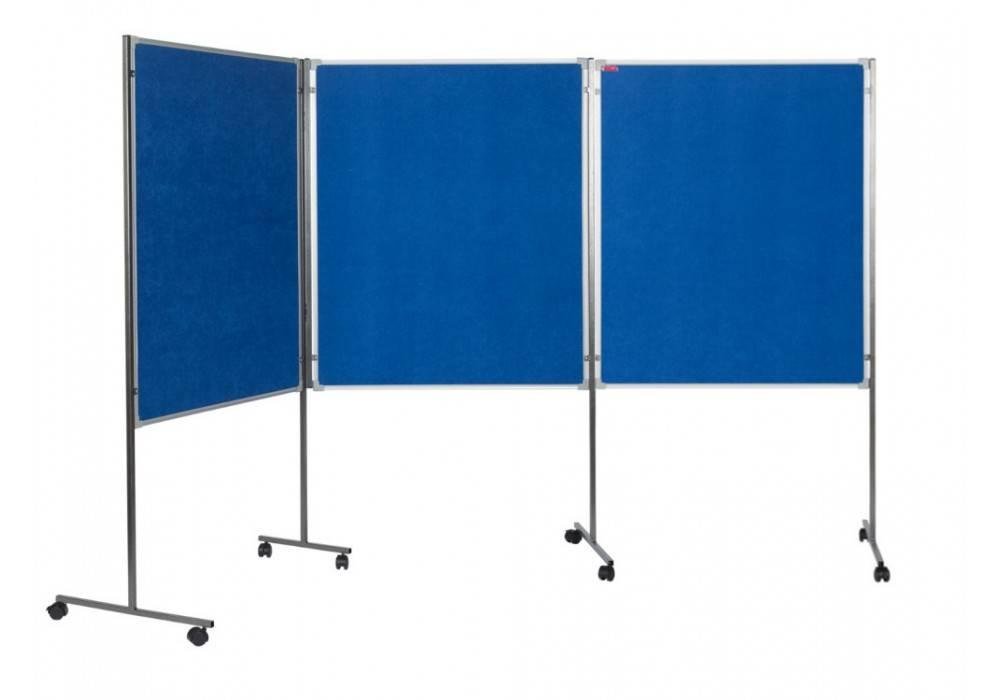 Доска фетровая, BOARD SYS, 3 секции, 180 x 310 cм синий