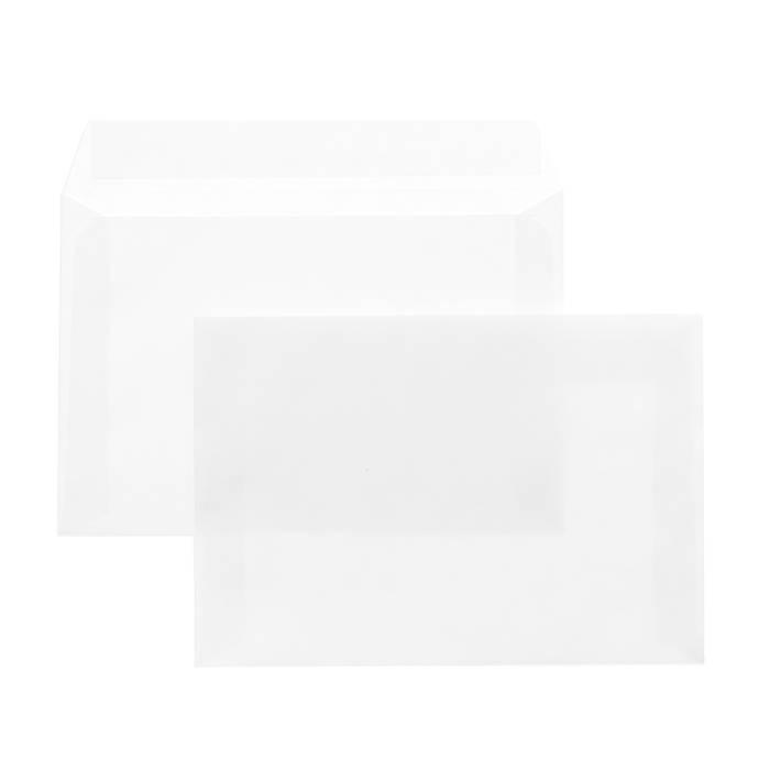 Конверт почтовый офсет С5, 162х229, стрип, чистый, 80 г/м2, белый, плоский, евробумага, 100% белизна, 100 шт, внутренняя запечатка