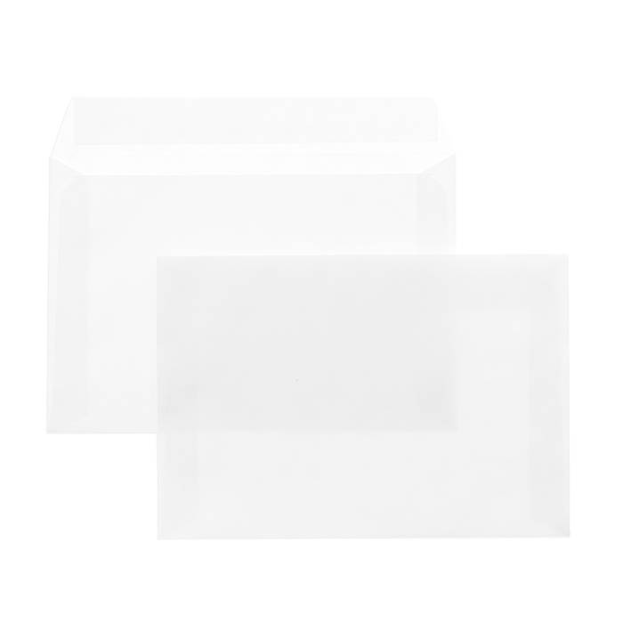 Конверт почт. оф. С5 162х229 стрип чистый 80 г/м2 белый плоск.евробумага 100% белизна 100 шт/упак.