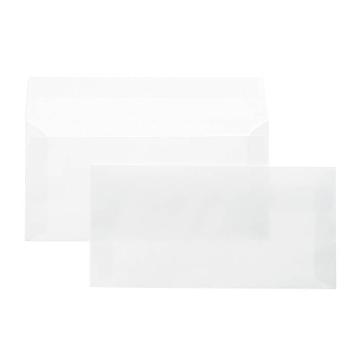 Конверт почтовый офсет Е65, 110×220, стрип, чистый, 80 г/м2, белый, плоский, евробумага, 100% белизна, 100 шт