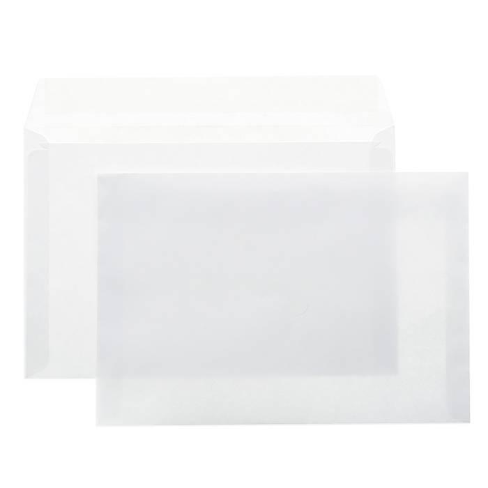 Конверт почтовый офсет С4, 229х324, стрип, чистый, 90 г/м2, белый, плоский, евробумага, 100% белизна, 100 шт