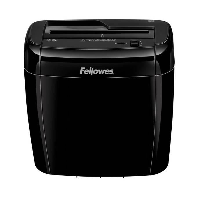 Шредер FELLOWES FS 47003 1 пользователь, 4 уровень секретности, фрагмент 4х40 мм 12 литров, 6 листов, скобы, карты, скрепки