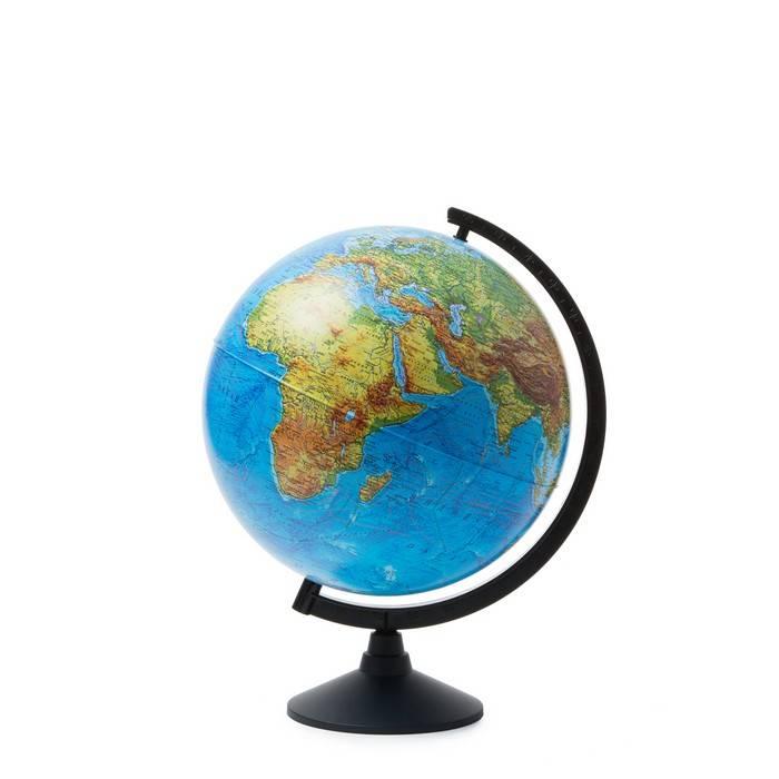 Глобус, ГЛОБЕН, физический, 32 см, голубой