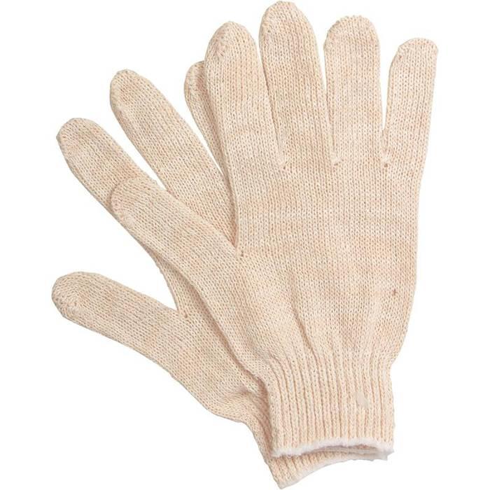 Перчатки трикотажные 1-2-PRO без ПВХ покрытия, 3-х нитка, 7 класс, белые
