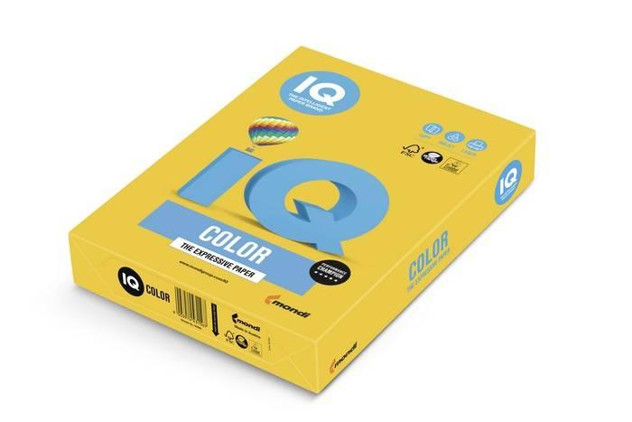 Бумага IQ COLOR 250 л. 160 г/м2 А4 интенсив солнечно-желтый