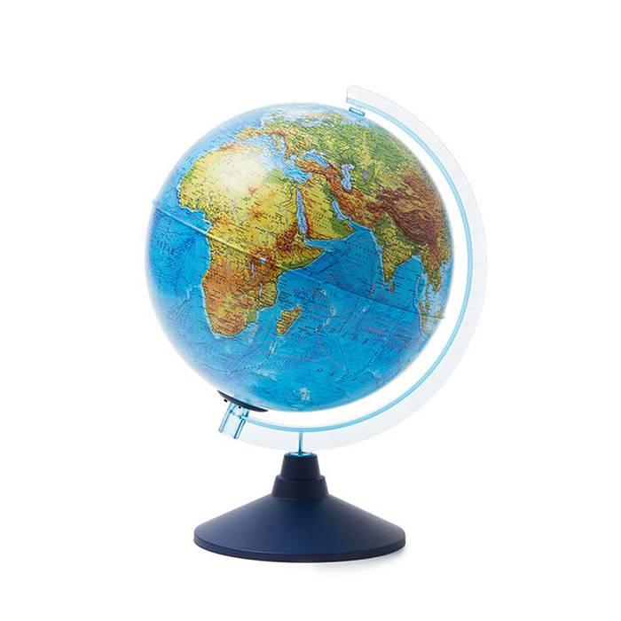 Интерактивный глобус Земли физико-политический 250 мм. с подсветкой от батареек