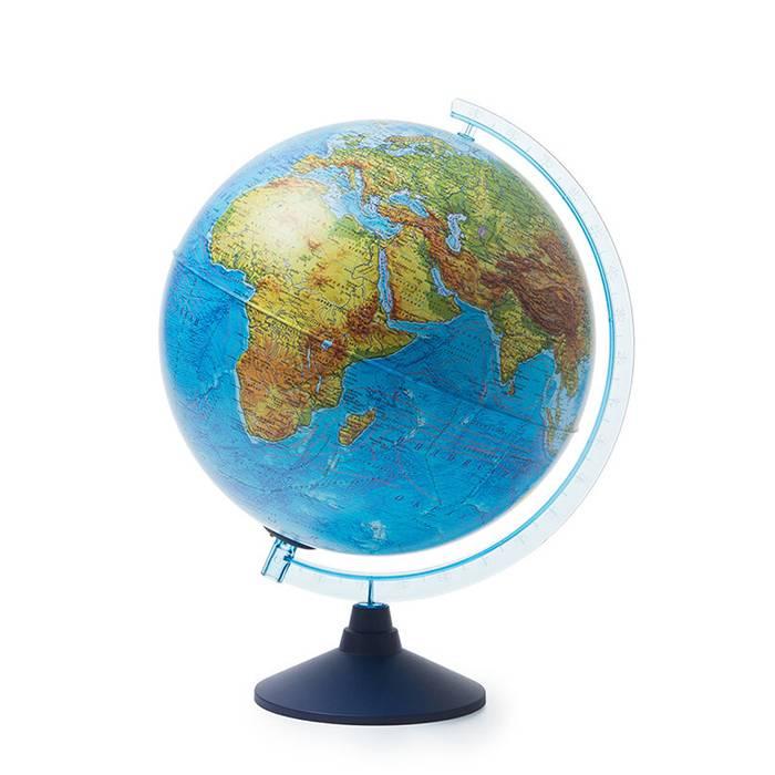 Интерактивный глобус Земли физико-политический 320 мм. с подсветкой от батареек