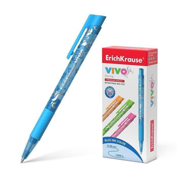 Ручка шариковая автоматическая ErichKrause® VIVO® SprИндонезияg, цвет чернил синий