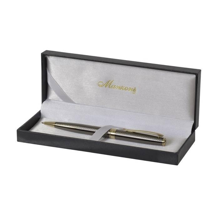 Ручка шариковая TORINO, черная/золото, футляр кожзам
