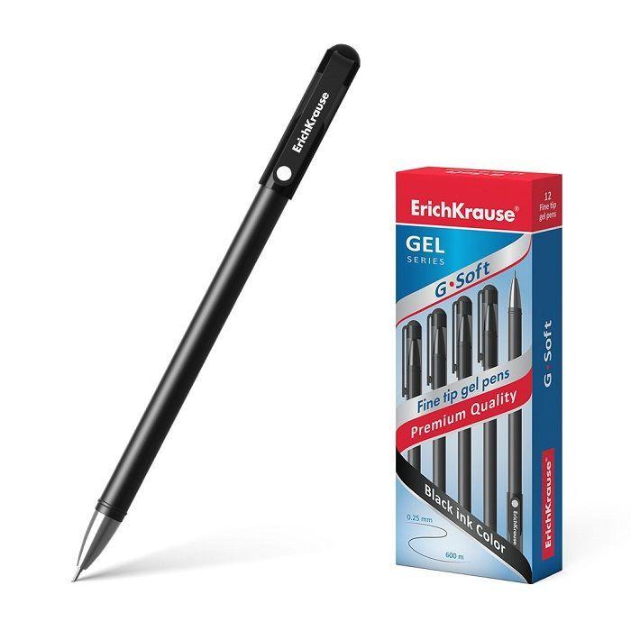 Ручка гелевая ErichKrause G-SOFT, черная