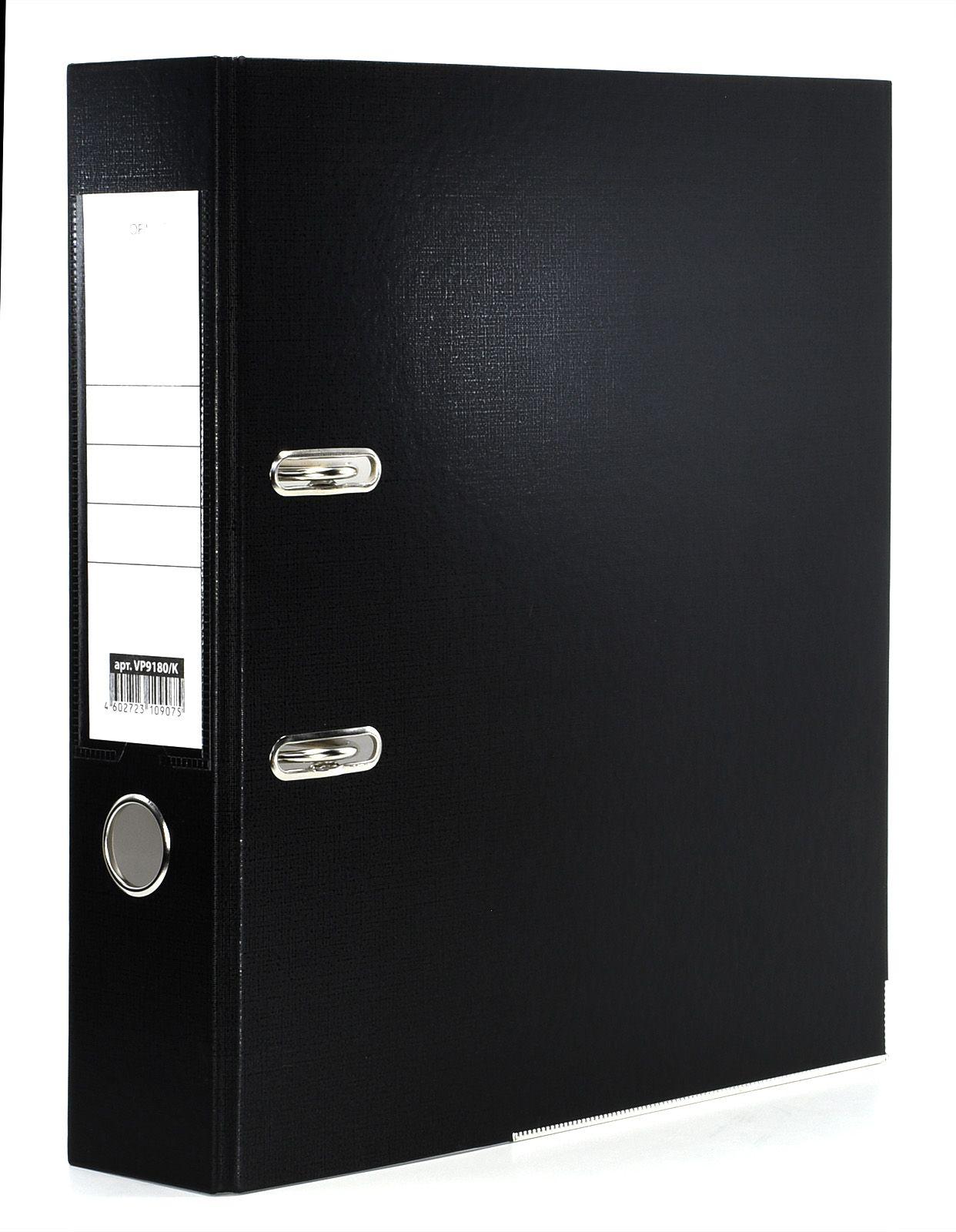 Папка-регистратор INFORMAT 75 мм одностороннее покрытие PVC, черная