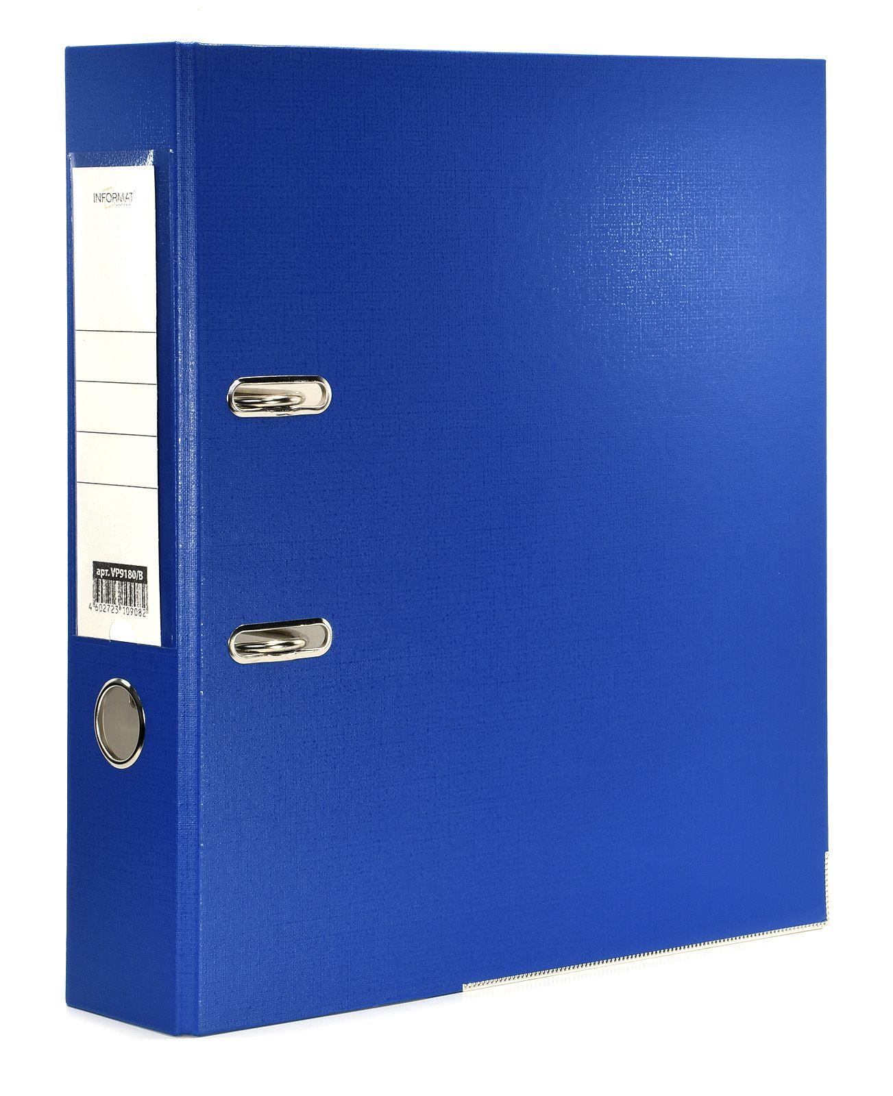Папка-регистратор INFORMAT 75 мм одностороннее покрытие PVC, синяя