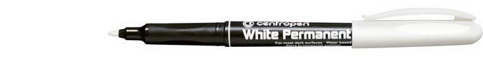 Маркер перманент. CENTROPEN 1,2 мм белый пулевидный